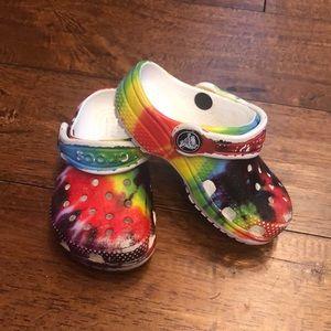 Tye  Dye toddler crocs